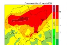 Photo of Zanieczyszczone powietrze – 2 stopień zagrożenia / 27 stycznia 2020