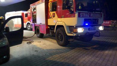 Photo of Pożar samochodu na stacji benzynowej w Szczepanowie / 21 stycznia 2020 r.