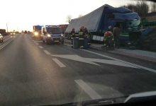 Photo of Brzesko / Rozbity transport piwa / 19 lutego 2020 r.