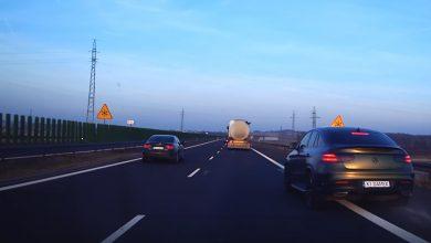 Photo of Autostrada A4 / Pirat wyprzedzał pasem awaryjnym / 15 lutego 2020 r.
