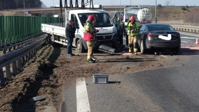 Photo of Wypadek na węźle autostradowym w Brzesku / 9 marca 2020 r. / zdjęcia