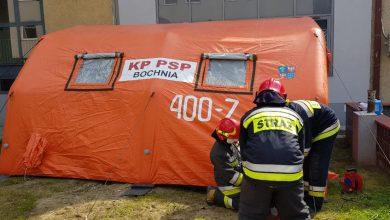 Photo of Bochnia / Przed szpitalem stanął specjalny namiot