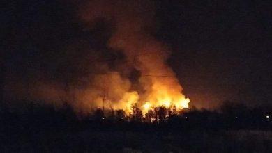 Photo of Mokrzyska / Nocny pożar traw na ul. Stanisławskiej / 23 kwietnia 2020 r. / video