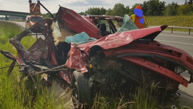 Photo of Autostrada A4. Wypadek w Sterkowcu okiem kamery / 28 maja 2020 r.