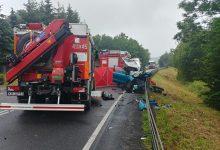 Photo of Śmiertelny wypadek na DK75 w Okocimiu. Zderzenie samochodu ciężarowego z osobowym / 16 czerwca 2020 r.