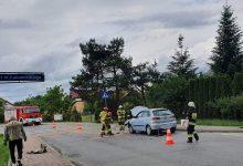 Photo of Szczepanów. Zderzenie samochodów osobowych obok cmentarza / 5 czerwca 2020 r.