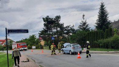 Photo of Szczepanów / Zderzenie samochodów osobowych obok cmentarza / 5 czerwca 2020 r.