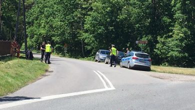 Photo of Zderzenie motocykla i samochodu osobowego w Jasieniu / 6 czerwca 2020 r.
