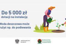 """Photo of Nowy program """"Moja Woda"""" – 5 tysięcy zł dotacji na przydomową retencję"""