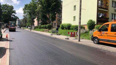 Photo of Brzesko. Nowy asfalt na ulicy Ogrodowej