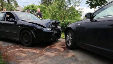 Photo of Górka / Czołowe zderzenie dwóch samochodów osobowych / 27 czerwca 2020 r.