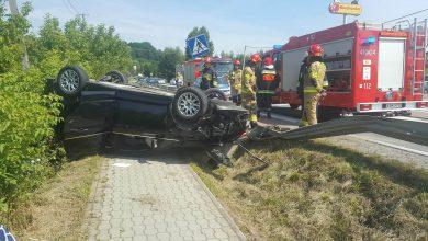 Photo of Dachowanie samochodu osobowego w Czchowie / 25 lipca 2020 r.