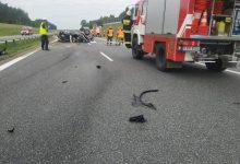Photo of Dachowanie samochodu osobowego na autostradzie A4 / 13 lipca 2020 r.