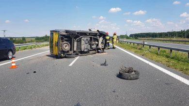 Photo of Wokowice / Wypadek samochodu dostawczego na autostradzie A4 / 26 lipca 2020 r.