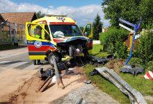 Photo of Brzesko / Wypadek karetki transportującego pacjenta z koronawirusem / 12 lipca 2020 r.