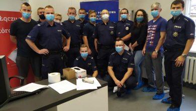"""Photo of Brzescy policjanci oddali krew w ramach akcji """"95-litrów krwi na 95-lecie Policji kobiecej"""""""