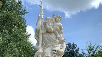 Photo of Monumentalna rzeźba św. Krzysztofa perełką wśród figur i kapliczek w gminie Borzęcin