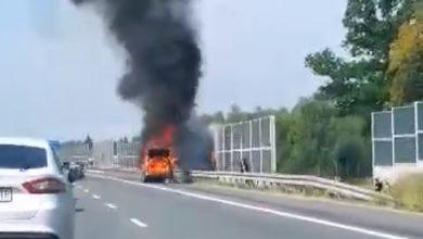Photo of Pożar samochodu osobowego na autostradzie A4 / 15 sierpnia 2020 r.
