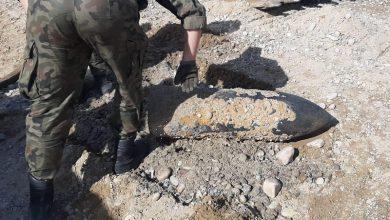 Photo of Potężny pocisk artyleryjski w Bobrownikach Wielkich