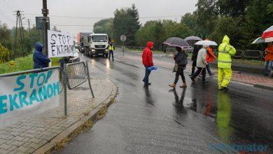 Photo of Jasień. Stop ekranom! Protest mieszkańców na DK94 / zdjęcia / video